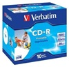 VERBATIM CD-R(10-Pack)Jewel/ Printable/ DLP/ 52x/ 700MB