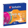 VERBATIM DVD-R(5-Pack)Slim/  Colour/  16x/  4.7GB