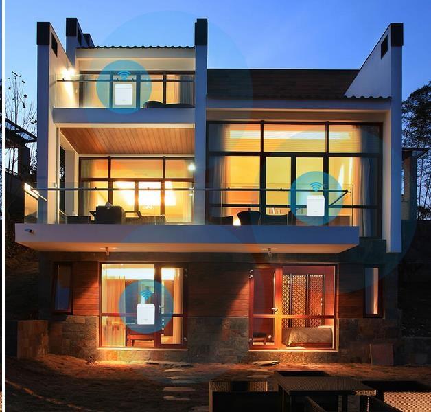 Obr. I třípodlažní dům může mít kvalitní a spolehlivé pokrytí WiFi sítí 1487897c