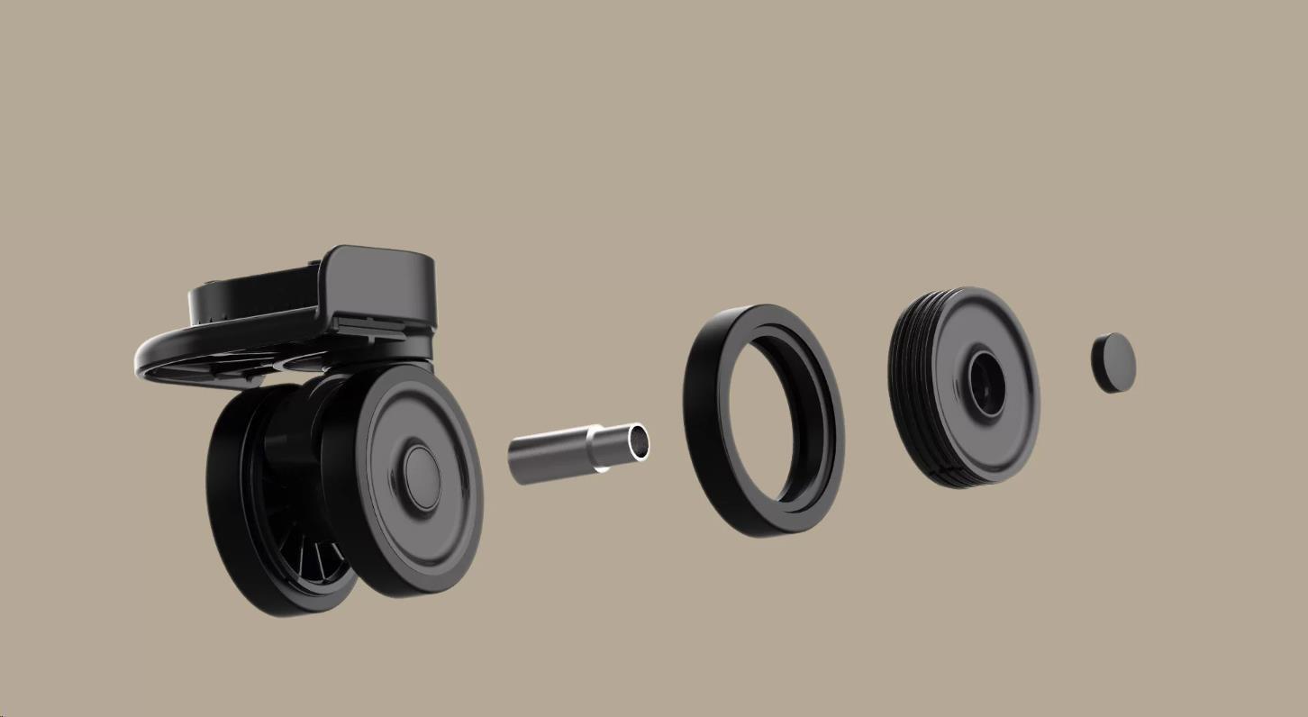 Obr. Základny koleček s velkou přesností zajišťují hladký pohyb 1501660f