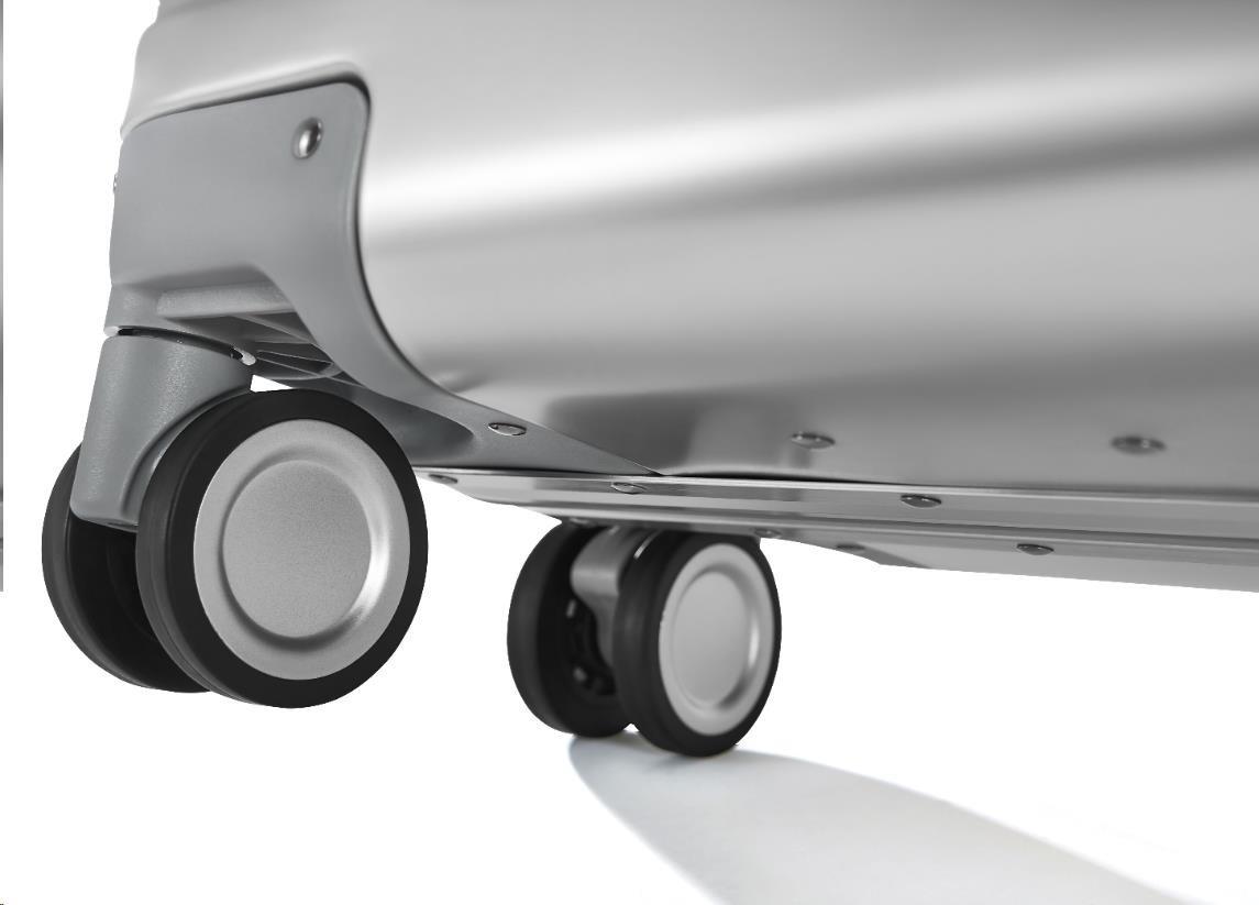 Obr. Svůj kufr si můžete vzít s sebou všude, tichá kolečka umožňují větší mobilitu 1501665h