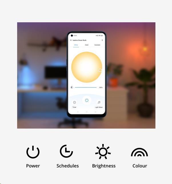 Obr. Ovládejte žárovku aplikací realme Link 1580944f