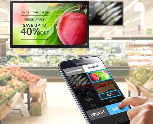 Obr. Bezdrátová správa digitálních displejů pomocí mobilního zařízení prakticky odkudkoli a kdykoli 524549d