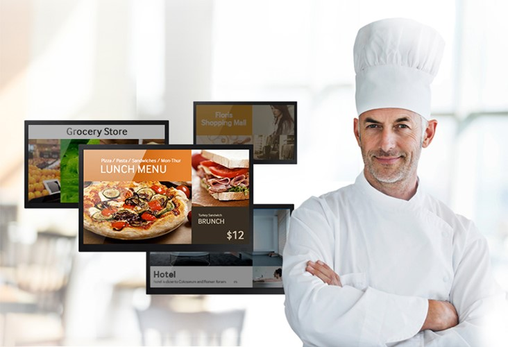 Obr. Snadno spravujte digitální prezentace pomocí zjednodušeného rozhraní domovské obrazovky, nástrojů a šablon 524549e