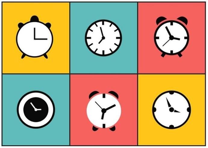 Datum, hodiny, minuty, alarm