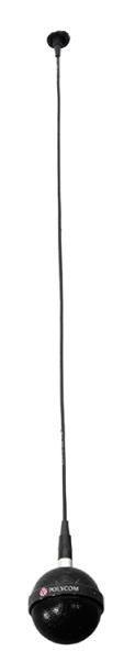 Polycom stropní mikrofon, kabeláž, montážní kit, instalační sada (kulatý, 3x integrovaný mikrofon), černá