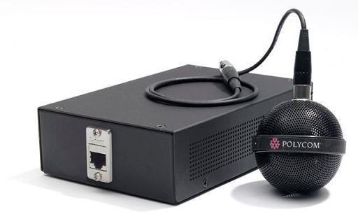 Polycom stropní mikrofon přídavný, kabeláž, instalační sada (kulatý, 3x integrovaný mikrofon), černá
