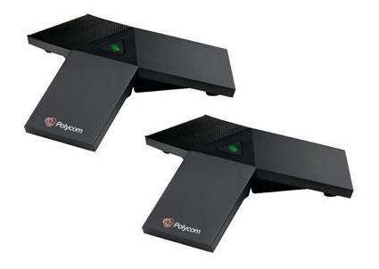 Polycom sada externích mikrofonů pro RealPresence Trio (2x modul, tlačítko mute s LED indikací, 2,1m kabel)