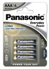 PANASONIC Alkalické baterie Everyday Power  LR03EPS/  4BP AAA 1, 5V (Blistr 4ks)