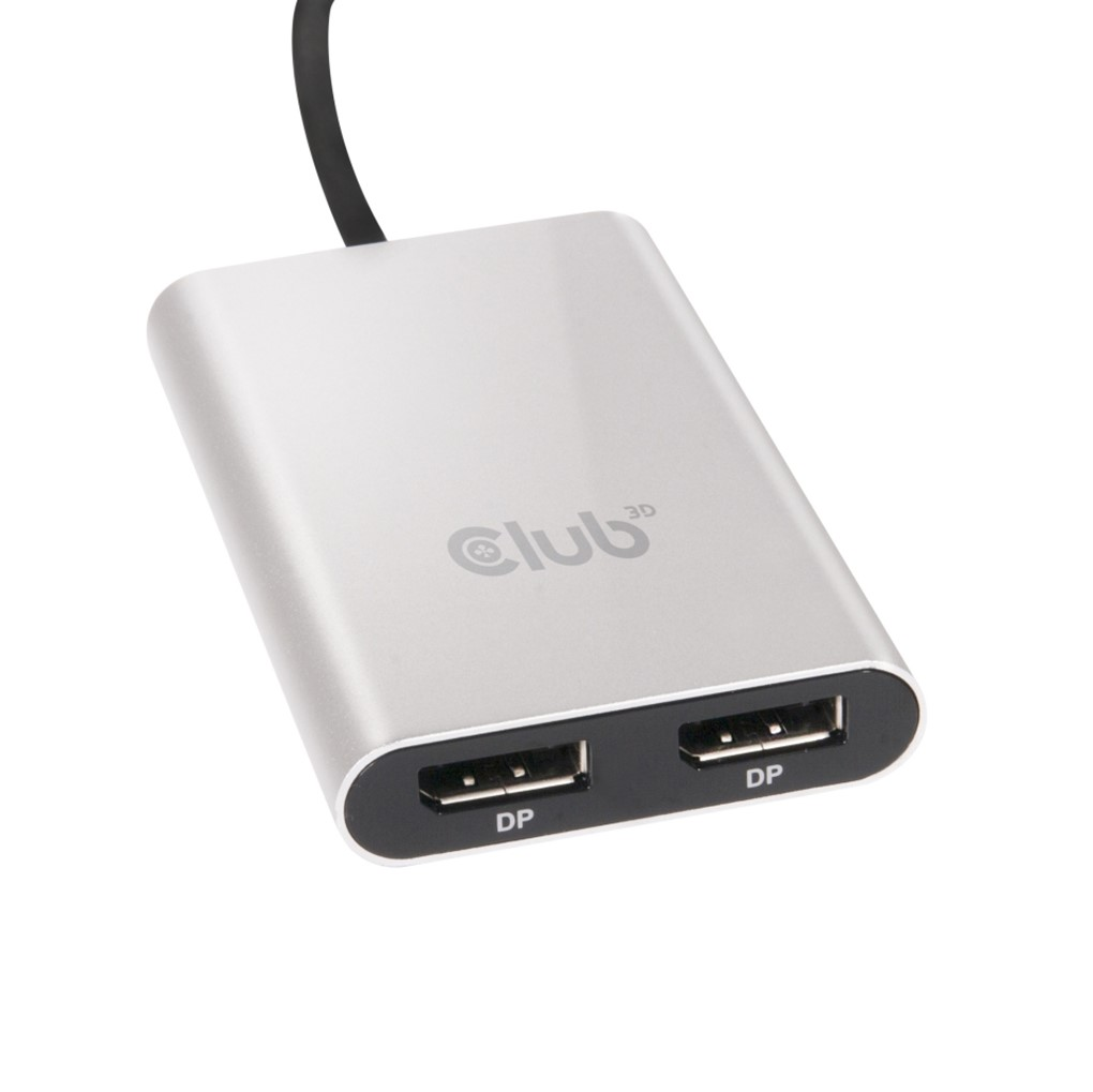Obr. Club-3D USB C THUNDERBOLT 3 TO DUAL DP 1.2 875252a