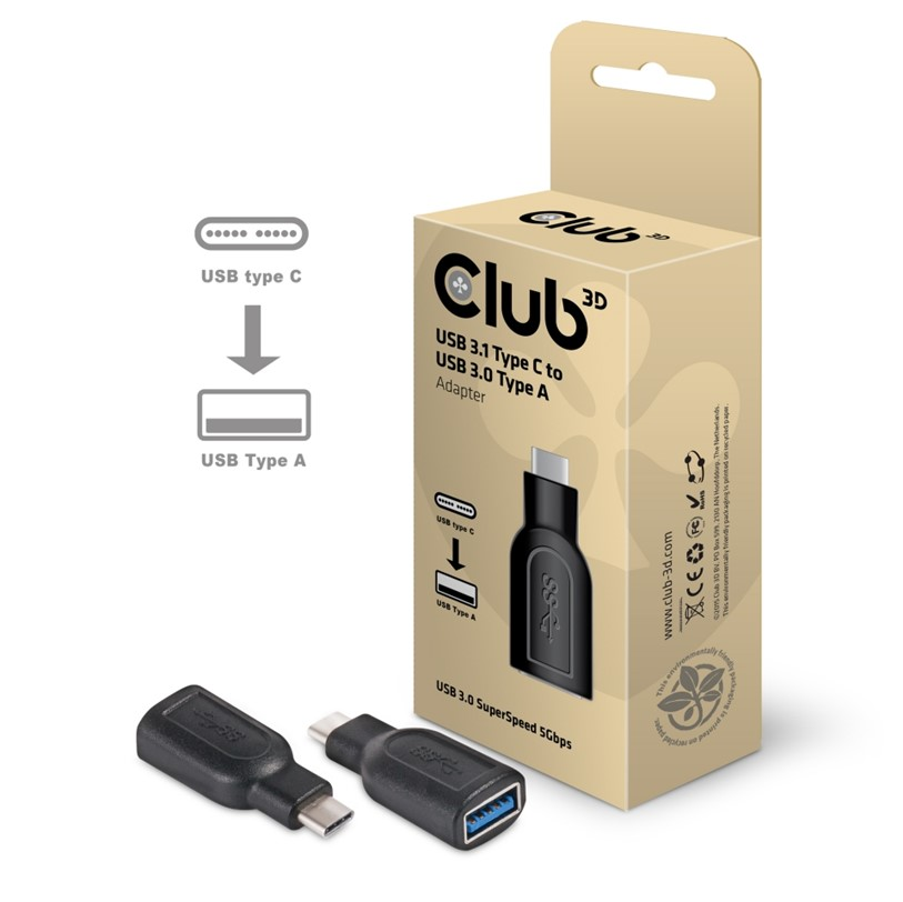 Obr. Club-3D USB 3.1 TYPE C Male to USB 3.0 Type A Female adapter 875276a